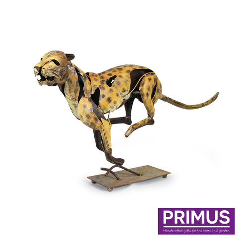 The Sprinting Jaguar Iron Sculpture