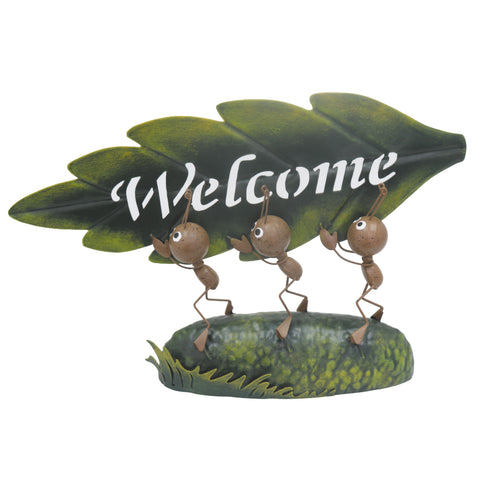 Miniature Life - Metal Ant Welcome Trio Garden Ornament