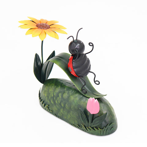 Miniature Life - Metal Ladybird Slide Garden Ornament