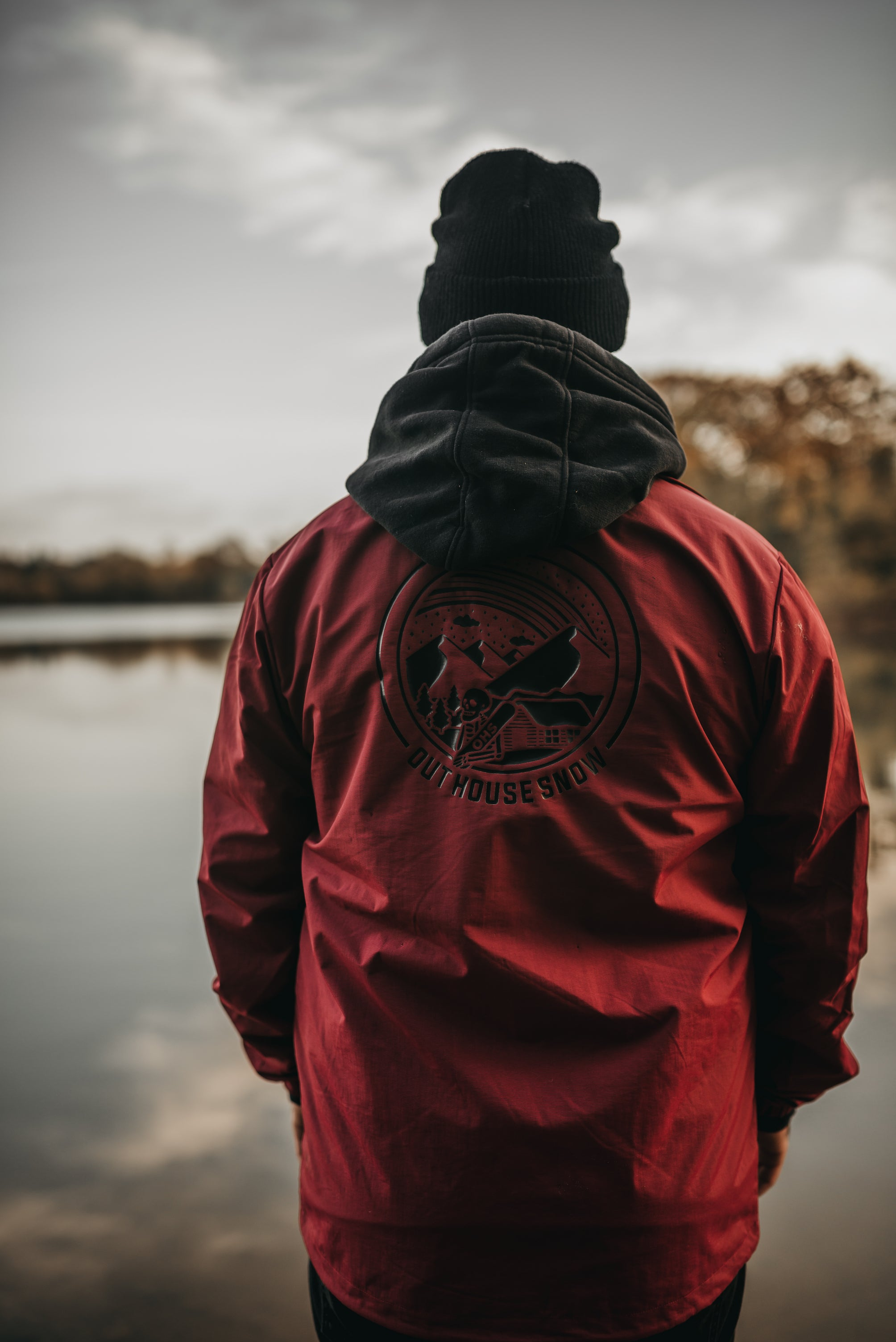 OHS Skully Coach Jacket Cardinal