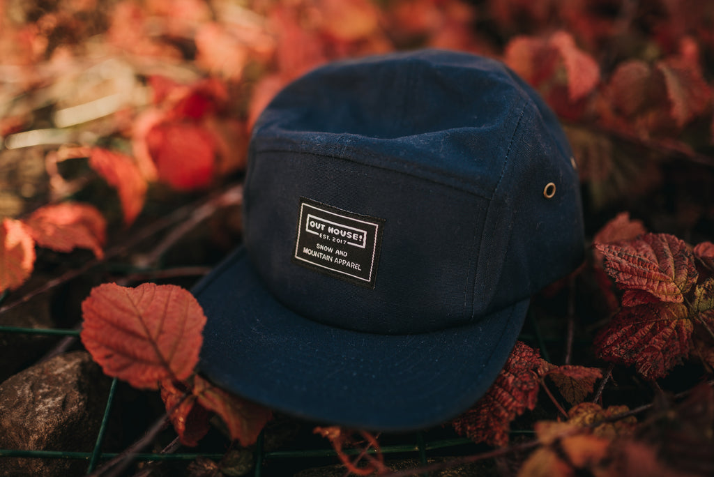 Blue 5 Panel Patch Cap