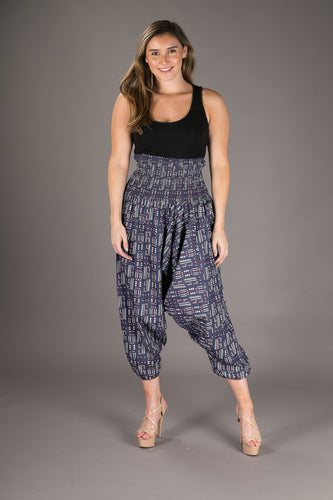 Denim Cotton Harem Yoga Jumpsuit Pants