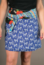 Reversible Cotton Black Floral Blue Dogs Print with Pocket