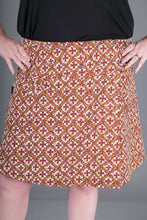 Reversible A Line Blue Brown Print with Pocket