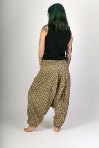 Green Print Cotton Hareem Yoga Jumpsuit Pants - Avalonia, Avalonia - Avalonia