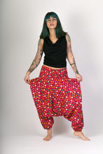 Red Dots Print Cotton Hareem Yoga Jumpsuit Pants - Avalonia, Avalonia - Avalonia