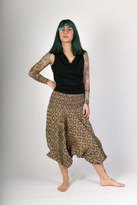 Black-Print-Cotton-Hareem-Yoga-Jumpsuit-Pants - Avalonia, Avalonia - Avalonia