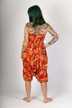 Orange Print Cotton Hareem Yoga Jumpsuit Pants - Avalonia, Avalonia - Avalonia