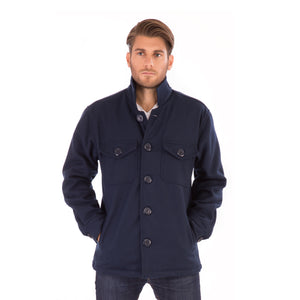 Classic Navy Blue Wool Mens Winter Jacket - Avalonia, Avalonia - Avalonia