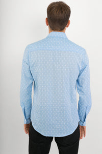 Blue-Floral-Print-Cotton-Slim-Fit-Long-Sleeve-Shirt-Avalonia-Avalonia-Online