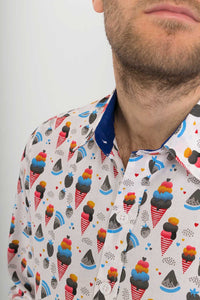 Ice-Cream-Print-Cotton-Slim-Fit-Mens-Shirt-Long-Sleeve - Avalonia-Avalonia - Avalonia