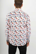 Ice Cream Print Cotton Slim Fit Mens Shirt Long Sleeve - Avalonia, Avalonia - Avalonia