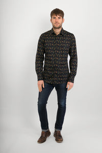 Drinks-Cocktails-Print-Cotton-Slim-Fit-Mens-Long-Sleeve-Shirt- Avalonia-Avalonia-Avalonia