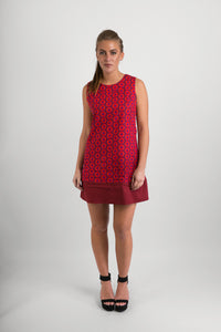 60s-Style-Cotton-Dress-Red-Print-with-Pockets - Avalonia, Avalonia - Avalonia