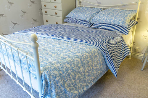 Blue Mix Organic Cotton Duvet Set - King Size - Avalonia, Avalonia - Avalonia