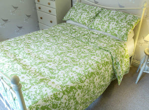 Green Floral Organic Cotton Duvet Set - King Size - Avalonia, Avalonia - Avalonia