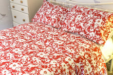 Red Floral Organic Cotton Duvet Set - King Size - Avalonia, Avalonia - Avalonia