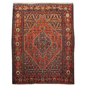 SAM - Antique SENNEH rug 4.8 x 3.7 ft / 147 x 109 cm Bohemian tribal nomadic 5x3ft