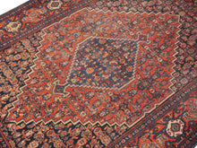 SAM - Antique rug 4.8 x 3.7 ft / 147 x 109 cm Bohemian tribal nomadic 5x3ft