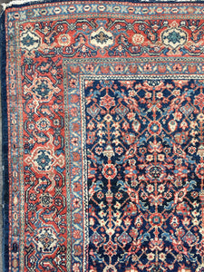 Antique Blue Meshkabad rug 6.6 x 4.2 ft