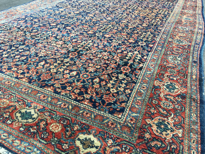 Antique Persian Farahan Sarouk 6.6 x 4.2 ft