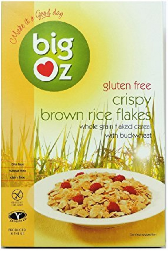 BIG OZ Gluten Free Crispy Brown Rice Flakes Cereal (350g)