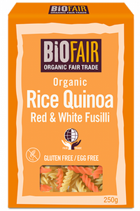 BIOFAIR Organic Rice, Red & White Quinoa Fusilli (250g)