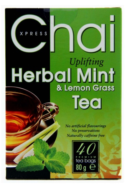 CHAI XPRESS Uplifting Herbal Mint & Lemon Grass Tea