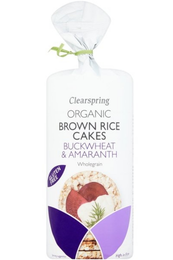 CLEARSPRING Brown Rice Cakes with Buckwheat & Amaranth (120g)