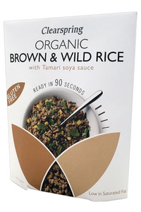 CLEARSPRING Brown & Wild Rice with Tamari Soya Sauce (250g)