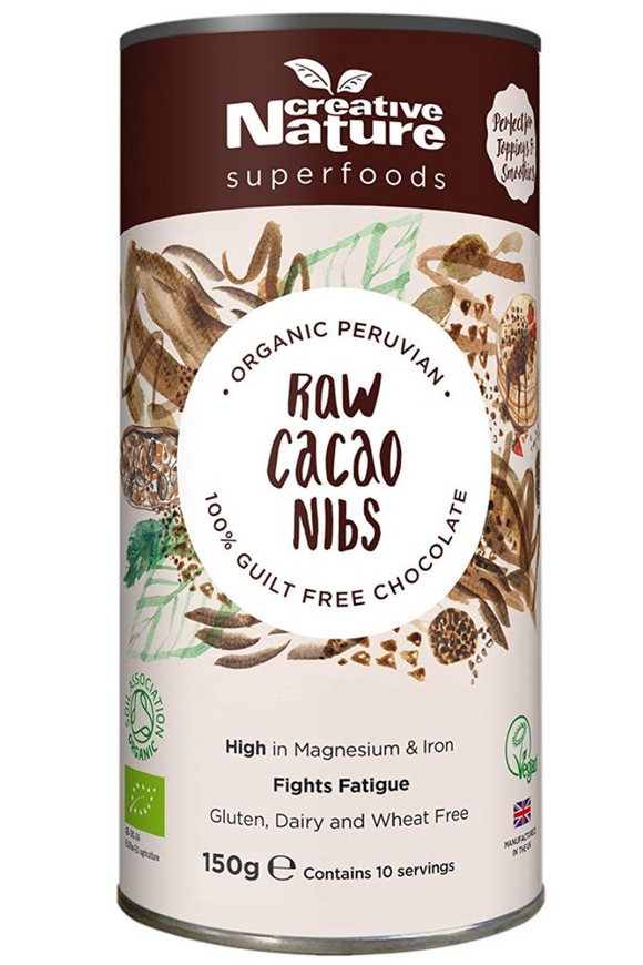 CREATIVE NATURE Organic Raw Cacao Nibs (150g)
