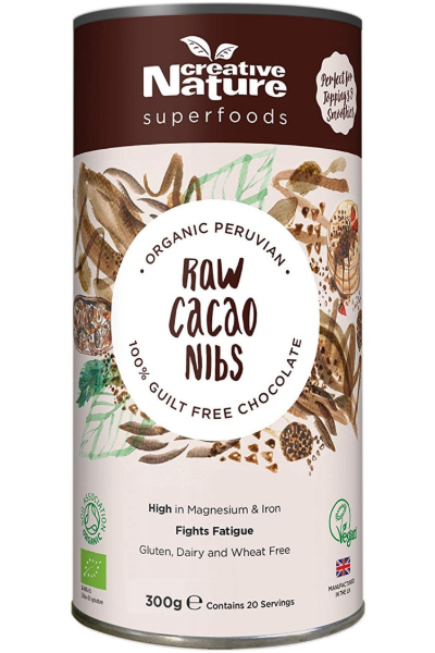 CREATIVE NATURE Organic Raw Cacao Nibs (300g)
