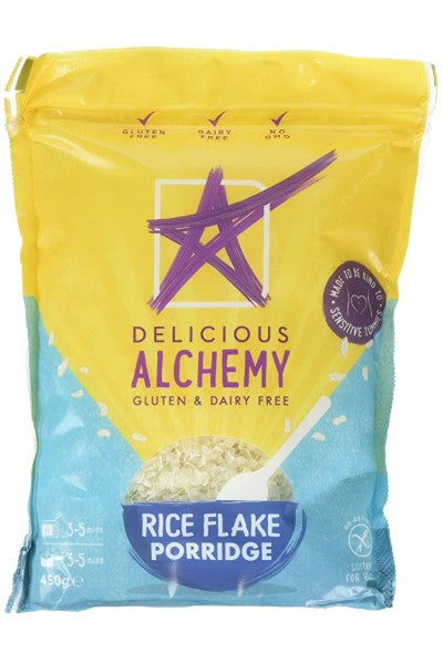 Delicious Alchemy Rice Flake Porridge - low fodmap, gluten free. dairy free