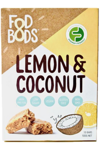 FODBODS Lemon & Coconut Protein Bar (50g) x 10 bars