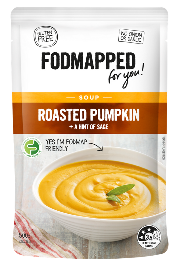 FODMAPPED for You! Roasted Pumpkin & Sage Soup