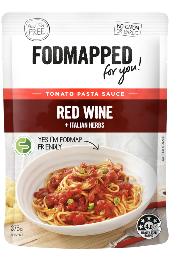 FODMAPPED for You! Red Wine & Italian Herbs Pasta Sauce