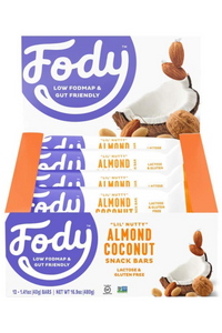 FODY Almond Coconut Bar (40g) x 12 bars