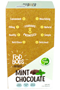 FODBODS Choc Mint Protein Bar (30g) x 12 bars