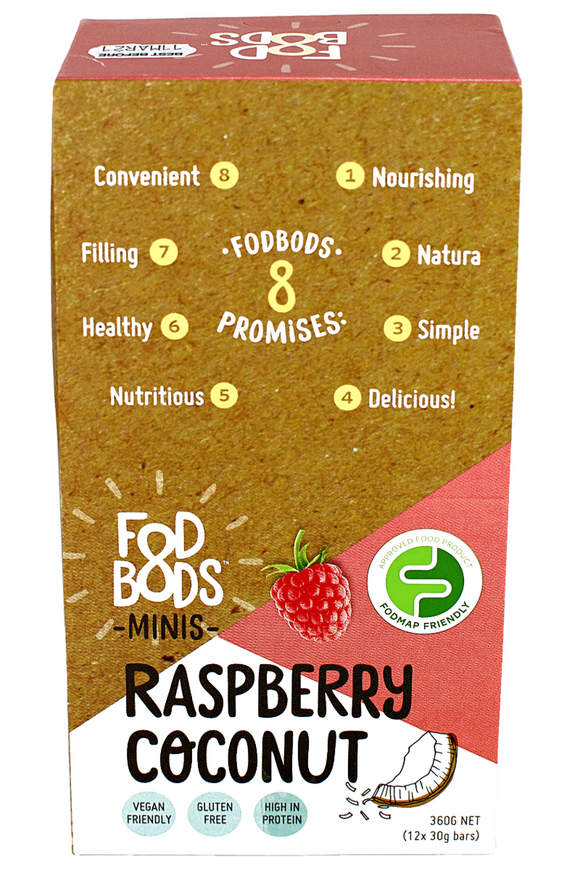 FODBODS Raspberry Coconut Protein Bar (30g) x 12 bars