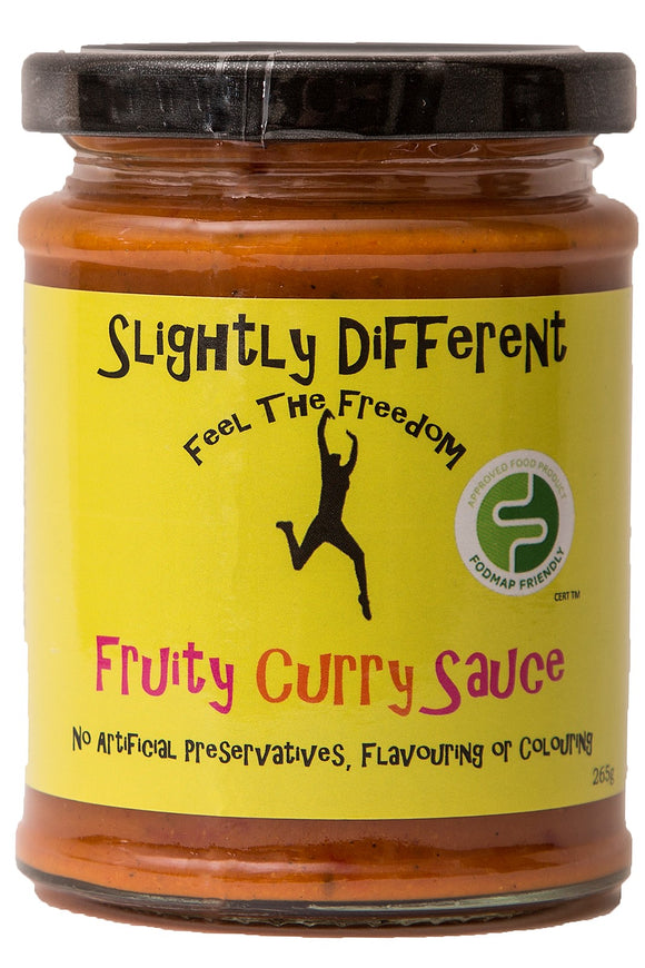 SLIGHTLY DIFFERENT Fruity Curry Sauce (265g) - low FODMAP tikka masala