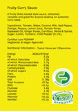 SLIGHTLY DIFFERENT Fruity Curry Sauce (265g) nutritional information