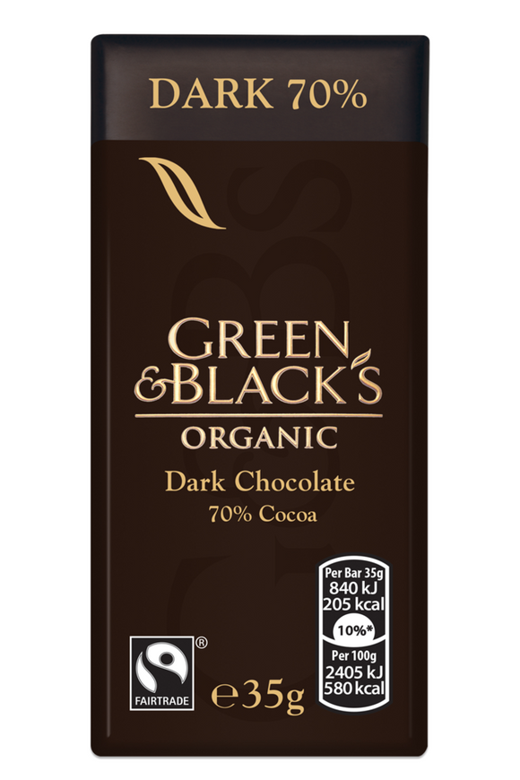 GREEN & BLACK'S Organic Dark Chocolate Bar (35g)
