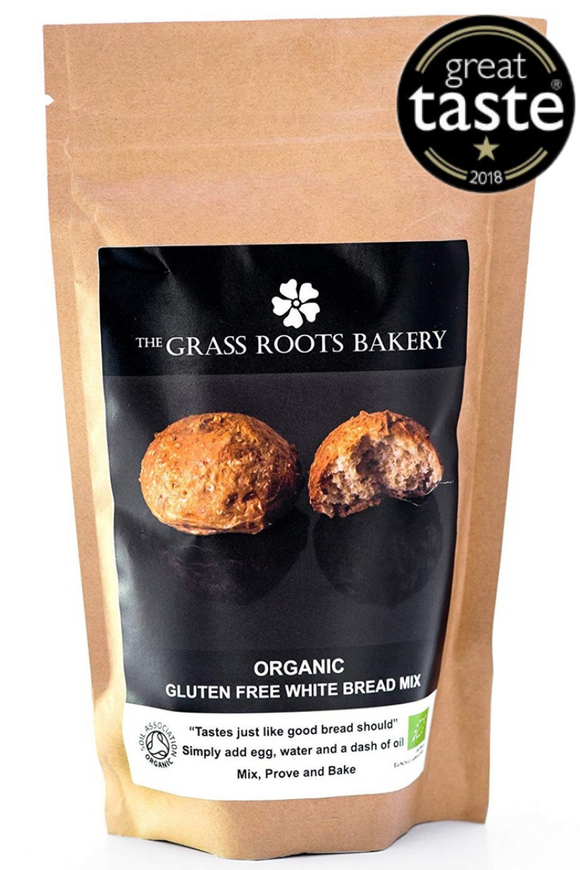 GRASS ROOTS BAKERY Organic Gluten White Bread Mix (280g)