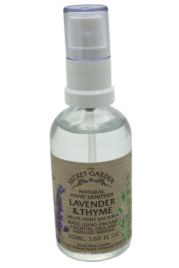 THE SECRET GARDEN Lavender & Thyme Hand Sanitiser (50ml)