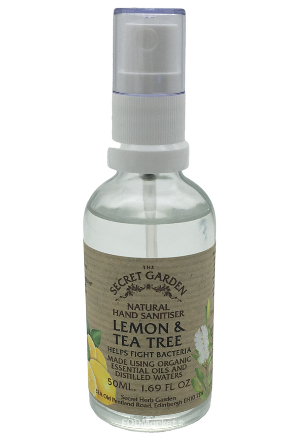 THE SECRET GARDEN Lemon & Tea Tree Hand Sanitiser (50ml)