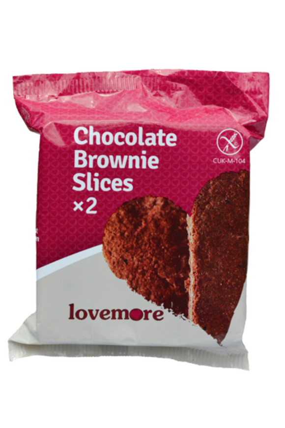 LOVEMORE Chocolate Brownie slices (52g)