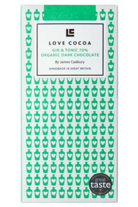 LOVE COCOA Gin & Tonic Dark Chocolate Bar (80g)