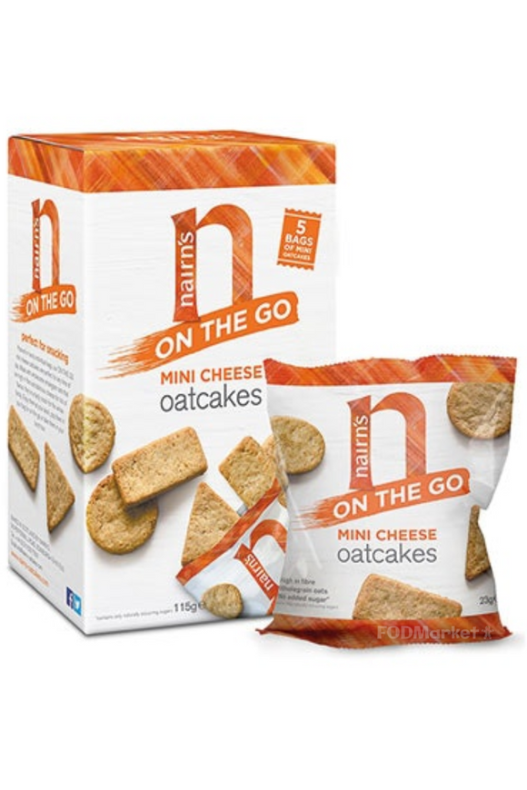 NAIRN'S On the Go Mini Cheese Oatcakes (5 x 23g)