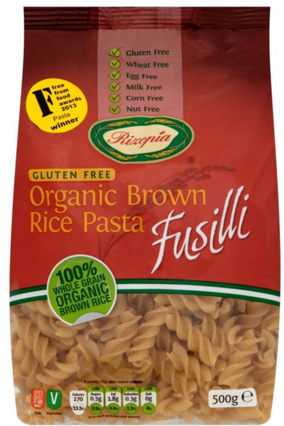 RIZOPIA Organic Brown Rice Fusilli (500g)