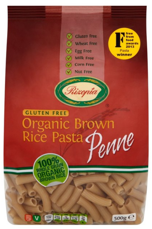 RIZOPIA Organic Brown Rice Penne (500g)